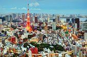 Tokio Stadtbild am Tokyo Tower.