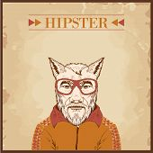 hipster animal charcter