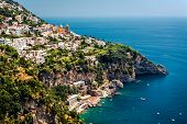stock photo of southwest  - View of Praiano - JPG