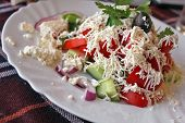 Traditional Bulgarian salad - shopska salad