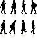 Walking Silhouettes
