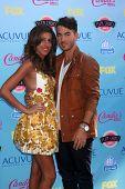LOS ANGELES - AUG 11:  Danielle Jonas, Kevin Jonas at the 2013 Teen Choice Awards at the Gibson Ampi
