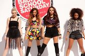 LOS ANGELES - AUG 9:  Perrie Edwards, Jade Thirwall, Jesy Nelson, Leigh-Anne Pinnock at the Teen Vogue's Back-To-School Saturday Kick-Off Event at the The Grove on August 9, 2013 in Los Angeles, CA