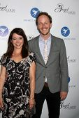 LOS ANGELES - AUG 10:  Marguerite Moreau, Christopher Redman at the Angel Awards at the Project Ange