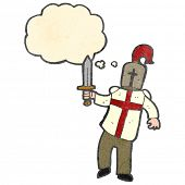 picture of arthurian  - retro cartoon arthurian knight - JPG