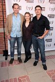 LOS ANGELES - AUG 10:  Chris Lowell, Kristen Bell, Ryan Hansen at the Invisible Children Fourth Esta