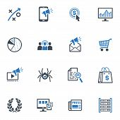 SEO & Internet Marketing Icons Set 3- Blue Series