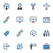 SEO & Internet Marketing Icons Set 2 - Blue Series