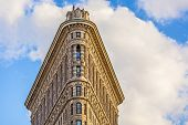 Facade Of The Flatiron Building  In Manhattan, New York