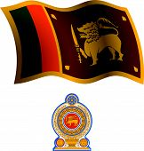 Sri Lanka Wavy Flag And Coat
