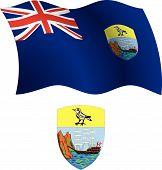Saint Helena Wavy Flag And Coat