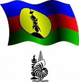 New Caledonia Wavy Flag And Coat