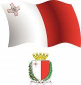 Malta Wavy Flag And Coat