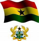 Ghana Wavy Flag And Coat