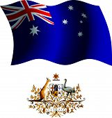 Australia Wavy Flag And Coat