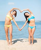 stock photo of love making  - summer holidays and vacation  - JPG
