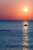 Sunset Over Fishing Boat