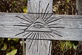 stock photo of all seeing eye  - Christian religious symbol  - JPG