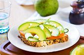 Avocado With Feta Sandwich