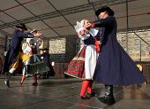 DOMAZLICE CZECH REPUBLIC - AUGUST 10: The Folklore Ensemble Usmev (Smile) dressed in traditional Cze