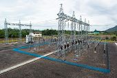 Lightning conductor at the electric station
