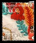 CROATIA - CIRCA 2010: stamp printed by Croatia dedicated to Dubrova�?�?�?�ko Primorje, a serie