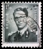 BELGIUM - CIRCA 1970: A stamp printed in Belgium shows King Baudouin,