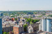 DUBLIN, IRELAND - JUNE 7: Panoramic view of Dublin, Dublin, Ireland on June 7, 2013