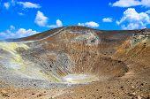Volcano Crater On Vulcano Island, Lipari, Sicily