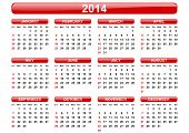 stock photo of calendar 2014  - 2014 calendar - JPG