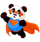Illustration der Super-Helden-Panda