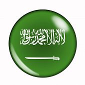 Button Flag Of Saudi Arabia
