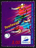 Postage Stamp France 1996 1998 World Cup Soccer Championships