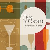 stock photo of cocktail menu  - Restaurant menu card design - JPG