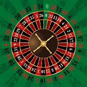 vector french roulette wheel