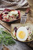 Bean Salad, Crab Meat, Eggs And Dill