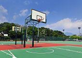 Public basketball court