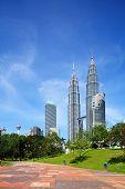 image of klcc  - Kuala Lumpur skyline - JPG