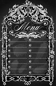 Vintage Blackboard For Bar Or Restaurant Menu