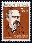 Postage Stamp Portugal 1964 Eduardo Coelho, Journalist