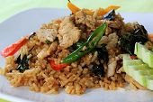 Fried Rice With Basil, Chili And Pork (khao Pad Krapao Moo)