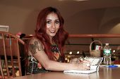 HUNTINGTON, NY-JAN 15: Reality star Nicole 'Snooki' Polizzi signs 'Baby Bumps:From Party Girl to Pro