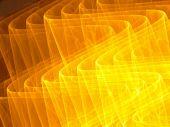 3D Golden Waves - Fractal Illustration