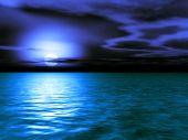 Stormy Caribbean Dusk - 3D Illustration