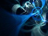 Blue Lightning Network - fractal illustration