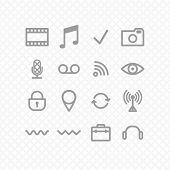 foto of reboot  - set icons grey three - JPG