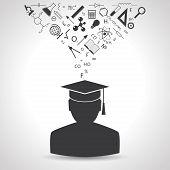 graduate in a hat