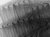 Black to White Monochrome 3D Ripples