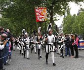 Ommegang medieval festval in Brussels