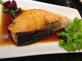 Grilled Fish With Teriyaki Sauce, Japanese Food